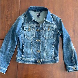Girls GAP size small destructed denim jacket